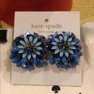 Kate Spade Blue Beaded Flower Earrings
